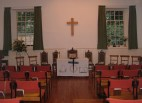 Canonmills set ready for a Service of Re-Dedication (held annually in October).